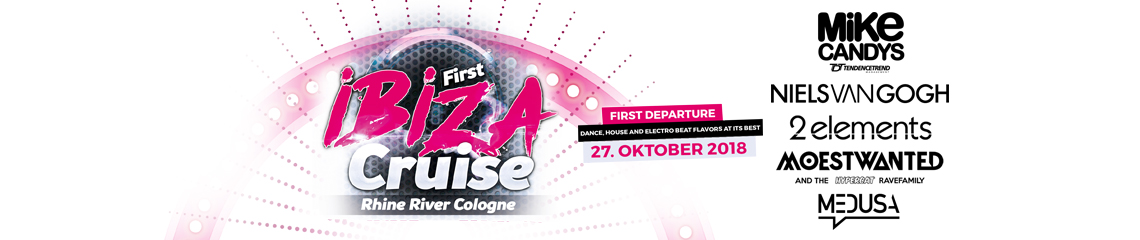 First Ibiza Partyboot Köln 27.10.2018