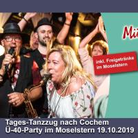 Tages-Tanzzug nach Cochem zur Ü40-Party 19.10.2019